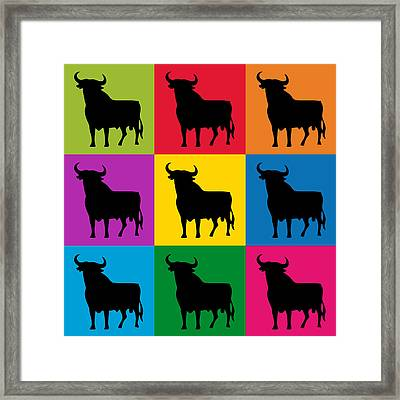 Toro Pop Art Framed Print