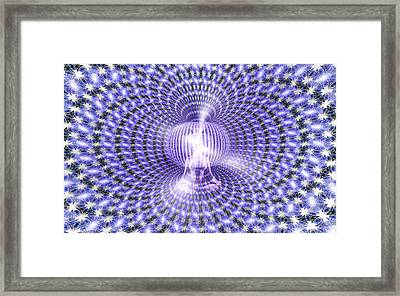 Framed Print featuring the painting Toroidal Hologram by Robby Donaghey