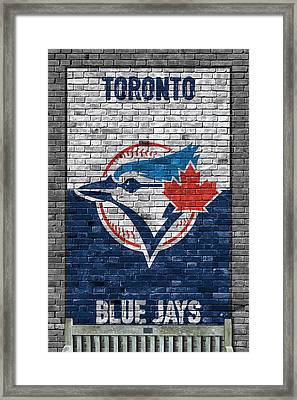 Toronto Blue Jays Brick Wall Framed Print