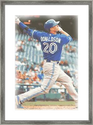 Toronto Blue Jays Josh Donaldson Framed Print by Joe Hamilton