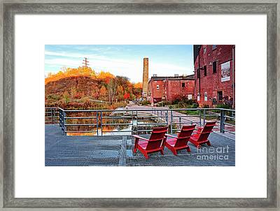 Toronto Brickworks Autumn View Framed Print by Charline Xia
