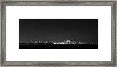 Toronto - Bw Framed Print