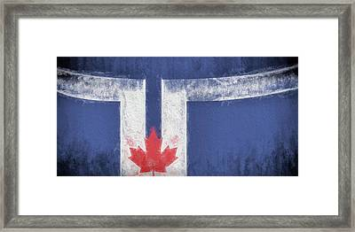 Framed Print featuring the digital art Toronto Canada City Flag by JC Findley