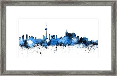 Toronto Canada Skyline Panoramic Framed Print