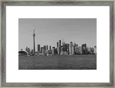 Toronto Cistyscape Bw Framed Print