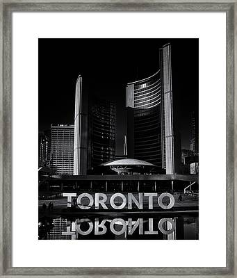 Framed Print featuring the photograph Toronto City Hall No 1 by Brian Carson