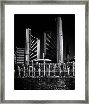 Framed Print featuring the photograph Toronto City Hall No 25 by Brian Carson