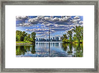 Toronto City View Framed Print by Elaine Manley