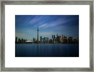Toronto Cityscape Framed Print by Ian Good