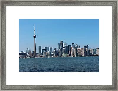 Toronto Cityscape Framed Print