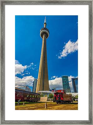 Toronto Cn Tower  Framed Print by Steve Harrington