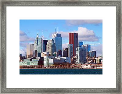 Framed Print featuring the photograph Toronto Core by Valentino Visentini