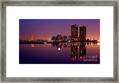 Toronto Cracking Dawn Framed Print