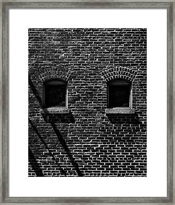 Framed Print featuring the photograph Toronto Distillery District Windows No 1 by Brian Carson
