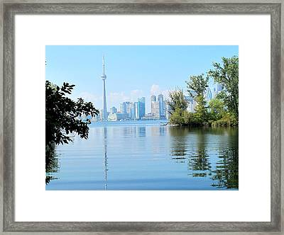 Toronto From The Islands Park Framed Print by Ian  MacDonald