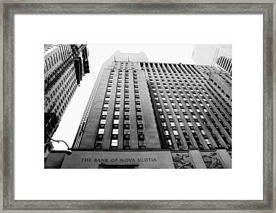Toronto Historic Building Framed Print by Valentino Visentini