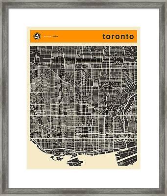 Toronto Map Framed Print