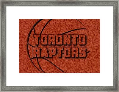 Toronto Raptors Leather Art Framed Print
