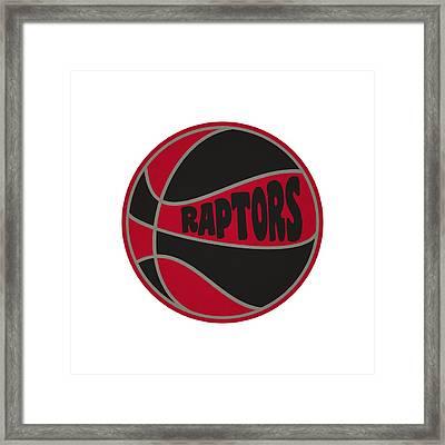 Toronto Raptors Retro Shirt Framed Print