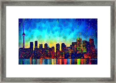 Toronto Skyline 10 - Pa Framed Print