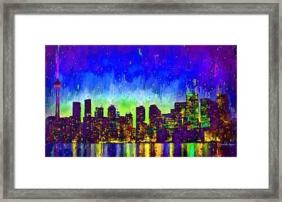 Toronto Skyline 15 - Da Framed Print