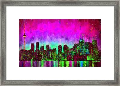 Toronto Skyline 16 - Pa Framed Print by Leonardo Digenio