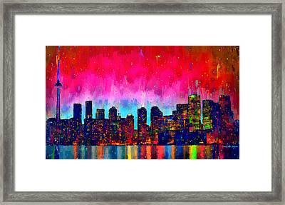 Toronto Skyline 20 - Da Framed Print