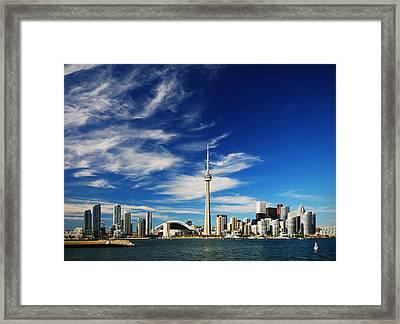 Toronto Skyline Framed Print by Andriy Zolotoiy