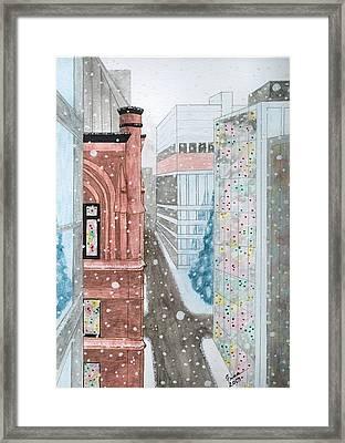 Toronto Street Scene Framed Print by Fran Hoffpauir