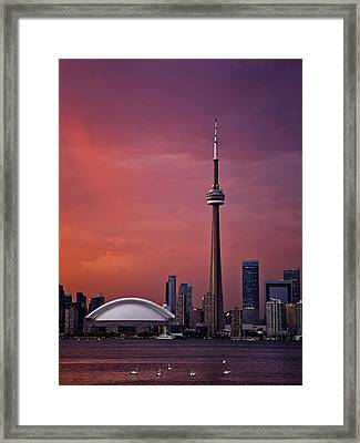 Toronto Sunset Framed Print by Ian Good