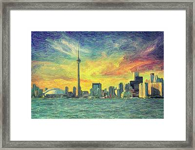 Toronto  Framed Print by Taylan Apukovska