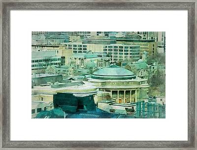 Toronto Window View Framed Print