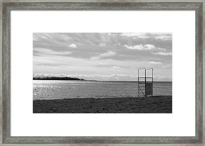 Framed Print featuring the photograph Toronto Winter Beach by Valentino Visentini