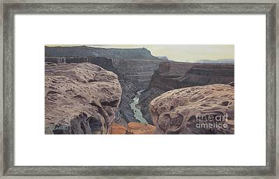 Toroweap Overlook Grand Canyon North Rim Framed Print by Barbara Barber