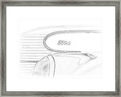 Torpedo Ford Framed Print by Jeffrey Jensen