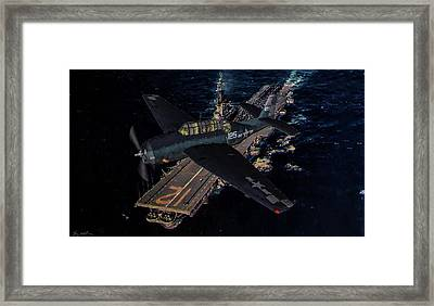Torpedo Squadron Seventeen - Oil Framed Print by Tommy Anderson