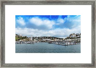 Framed Print featuring the photograph Torquay Devon by Scott Carruthers