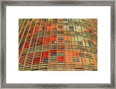 Torre Agbar Modern Facade Framed Print