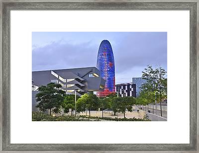 Torre Agbar Barcelona  Framed Print