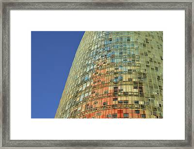Torre Agbar  Framed Print by Marek Stepan