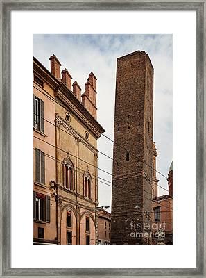 Torre Garisenda Bologna Framed Print by Sophie McAulay