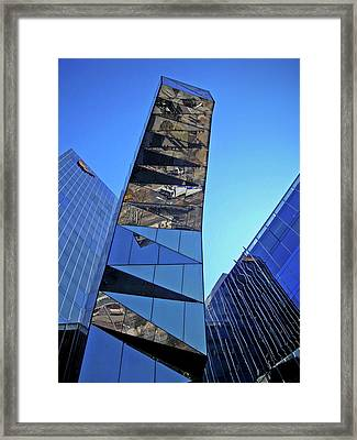 Torre Mare Nostrum - Torre Gas Natural Framed Print by Juergen Weiss
