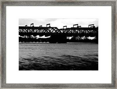 Framed Print featuring the photograph Torrent by Jez C Self