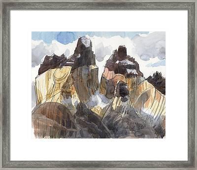 Torres Del Paine, Chile Framed Print
