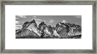 Torres Del Paine National Park - Panoramic Patagonia Photograph Framed Print