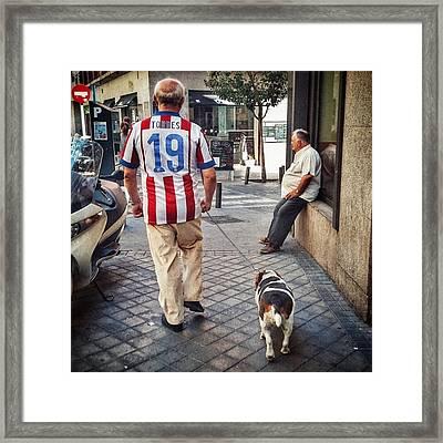 Torres' Dog #street #urban #city #dog Framed Print
