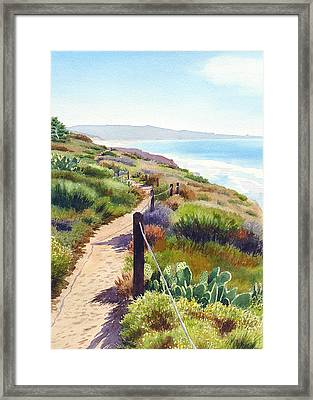 Torrey Pines Guy Fleming Trail Framed Print by Mary Helmreich