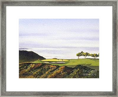 Framed Print featuring the painting Torrey Pines South Golf Course by Bill Holkham