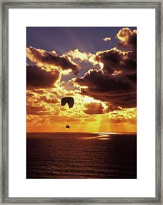 Torrey Pines Sunset Framed Print