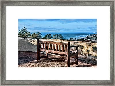 Torrey Pines View Framed Print by Daniel Hebard